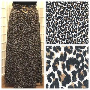 Lularoe Animal Print Maxi Skirt